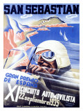 San Sebastian, XI Circuito Automovilista Giclee Print by Viejo Santamarto Acebo