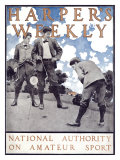 Harper&#39;s Weekly, National Authority on Amateur Sport Giclee Print by Maxfield Parrish
