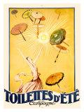 Toilettes d'Ete Giclee Print by Jean-Gabriel Domergue