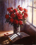 Bible and Roses Poster by Lynn Pitard