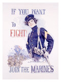 Join the Marines Giclee Print by Howard Chandler Christy