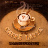 Cafe Latte Poster by Jane Claire