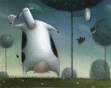 Saturday Night Heifer Posters af Rob Scotton