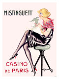 Mistinguett, Casino de Paris Giclee Print by Charles Gesmar
