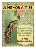 Hit or Miss, 1935 Giclee Print