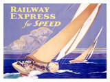 Railway Express for Speed Giclee Print