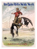 Buffalo Bill's Wild West, Bucking Bronco Giclee Print