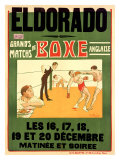 El Dorado, Matchs de Boxe Anglaise Giclee Print by H. L. Roowy