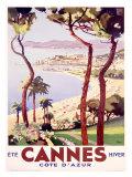 Cannes Reproduction procédé giclée par  Peri