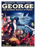 George the Supreme Master of Magic - Giclee Baskı