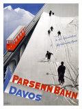 Parsenn Bahn Giclee Print by  Kurtz