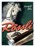 Rossli Cigars Giclee Print by Iwan E. Hugentobler