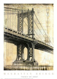 Manhattan Bridge Poster by P. Moss
