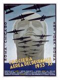 Croceria Aerea del Decennale Giclee Print by Luigi Martinati