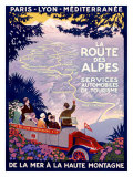 La Route des Alpes Giclee Print by Roger Broders