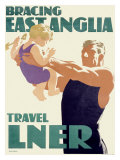 LNER, Bracing East Anglia Giclee Print by Tom Purvis