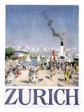 Zürich Giclée-Druck von Otto Baumberger