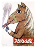 Rossli Cigars Impresso gicle por Herbert Leupin