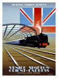 Victoria Station, London, Orient Express Giclee Print by Pierre Fix-Masseau