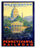 Pennsylvania Railroad, Washington D.C. Giclee Print by Grif Teller