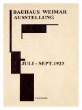 Affiche de galerie de Bauhaus allemand1923 Reproduction procédé giclée