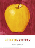 Apple on Cherry Prints by P. Moss