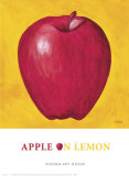 Apple on Lemon Posters by P. Moss