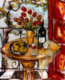 Still Life Wtih Blooming Red Tulips Prints by Nicole Etienne