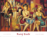 Party Girls Posters by Elya de Chino
