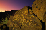 Detail of Petroglyphs at Petroglyph National Monument Photographic Print by Danny Lehman