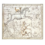 Constellations of Monoceros the Unicorn, Canis Major and Minor from A Celestial Atlas Giclee Print by A. Jamieson