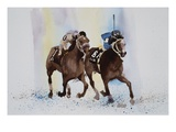 Jockeys II Giclee Print by Joan Grout