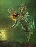 Espíritu de la noche Pósters por John Atkinson Grimshaw