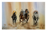 Jockeys I Giclee Print by Joan Grout