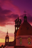 Exterior View of the Church of Guadalupe at Sunset Fotografisk tryk af Randy Faris