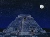 Pyramid of the Magician at Night Photographic Print by Robert Landau
