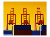 Three Cranes Giclee Print by Mary Iverson