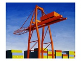 Crane with Containers Giclee Print by Mary Iverson