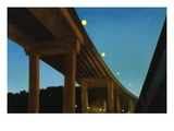 West Seattle Bridge, Night Giclee Print by Mary Iverson