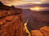 Grand Canyon set fra Toroweap Point Fotografisk tryk af Ron Watts