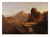 "Scene from ""The Last of the Mohicans"" (Cora Kneeling at the Feet of Tamenund) Premium Giclee Print by Thomas Cole"