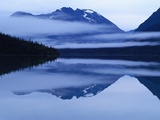 Mountain Reflected in Lake Photographic Print by Tom Silver