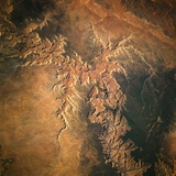 Grand Canyon from Space Shuttle Atlantis Photographic Print