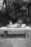 Girl Reading on Bench Photographic Print by Philip Gendreau