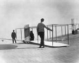 Orville Wright Preparing for Takeoff Photo