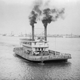 Ferry Boat on the Mississippi River Photographic Print