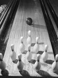 Bowling Ball Heading Toward Pins Photographic Print by Philip Gendreau