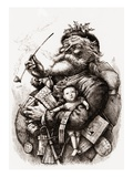 Merry Old Santa Claus Giclee Print by Thomas Nast