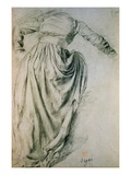 Study of a Draped Woman Giclee Print by Edgar Degas