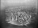Vista aérea de Manhattan Lámina fotográfica por  Bettmann